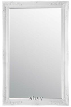 Extra Large Wall Mirror White Antique Vintage Full Length 5Ft7x3Ft7 170 X 109cm