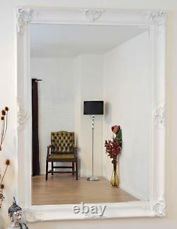 Extra Large Wall Mirror White Decorative Antique Full Length 7ftx5ft 213x152cm