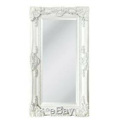 Extra Large White Mirror Heavily Ornate Full Length Wall Home 200cm x 100cm