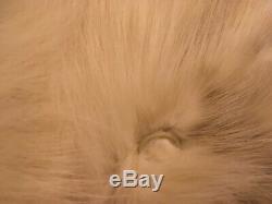 FABULOUS! FOX FUR COAT W's Sz Large Full Length w Chevron Pattern, Brown Lining