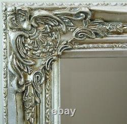 Florence Large Full Length Silver Leaf Chic Leaner Wall Floor Mirror 163 x 72cm