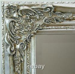Florence Large Full Length Silver Leaf Chic Leaner Wall Floor Mirror 64 x 28