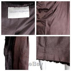 GOLDIN FELDMAN Vintage Sheared Mink Dark Chocolate Brown Full Length Coat -Large