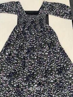 Ganni Viscose-Georgette Floral Print Maxi Dress. EU 40/FR 42/UK 14