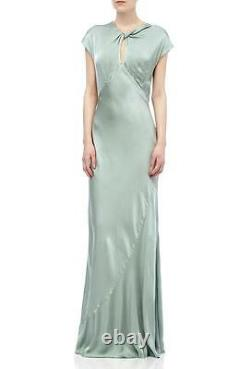 Ghost Hollywood Wendy Dusty Green Dress Size L RRP £225 RE077 DD 18