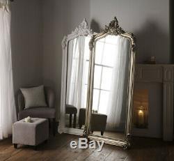 Gold Crested Leaner Leaning Bedroom Full Length Large Ornate Mirror