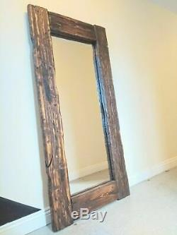 Gorgeous Large Full Length Rustic Reclaimed Wood Floor Mirror