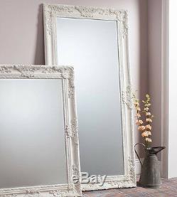 Hampshire Large Cream Full Length Decorative Leaner Wall Floor Mirror 170 x 84cm