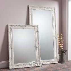 Hampshire Large Decorative Cream Full Length Leaner Wall Floor Mirror 67 x 33