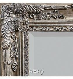 Hampshire Large Decorative Silver Full Length Leaner Wall Floor Mirror 67 x 33
