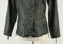 Harley-Davidson LARGE SAVANNAH Leather Jacket 98106-95VW Studs Zips & Snaps