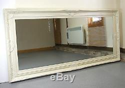 Harrow Extra Large Cream Rectangle Full Length Wall Mirror 67 x 33
