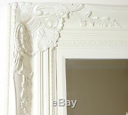 Harrow Extra Large Vintage Cream Rectangle Full Length Wall Mirror 173cm x 81cm