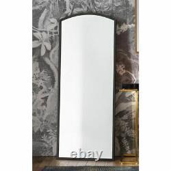 Higgins Full Length Arched Antique Black Rustic Metal Leaner Mirror 150cm x 60cm