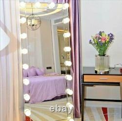 Hollywood Full Length Floor Vanity Mirror Extra Large (Mirrored)