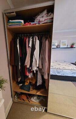 IKEA PAX Large wardrobe with mirror sliding doors. Perfect condition