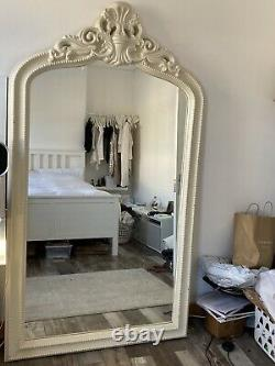 Ivory/cream large ornate shabby chic arch french full length floor mirror