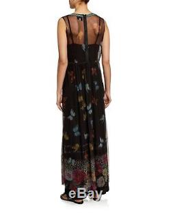Johnny Was Toqlira Mesh Dress. Large. New. Butterfly Embroidered Maxi dress$335
