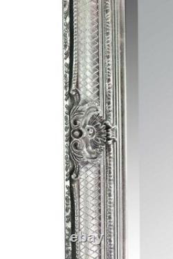 Large Abbey Leaner Full length Silver Wall Mirror 5Ft5 X 2Ft7 168cm X 78cm New