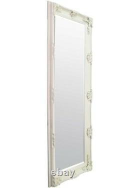 Large Abbey Leaner Ivory Ornate Full Length Wall Mirror 5Ft6 X 2Ft7 168cm X 79cm