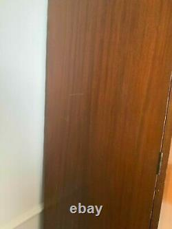 Large Antique Edwardian Wooden Wardrobe with Full Length Mirror