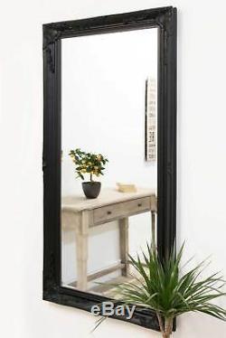 Large Antique Full Length Ornate Styled Black Mirror 5Ft7 X 2Ft7 170cm X 79cm