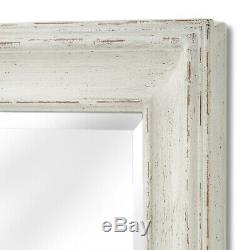 Large Baroque Ornate Antique White Decorative Rectangle Full Length Wall Mirror