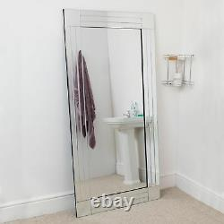 Large Bathroom Full length long Venetian Wall Mirror 5Ft9 X 2Ft9 174cm X 85cm