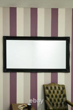 Large Black Shabby Chic Full Length Big Wall Mirror 5Ft6 X 2Ft6 165cm X 75cm