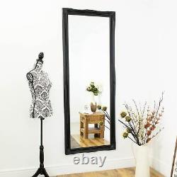 Large Black Shabby Chic Full Length Big Wall Mirror Long 6Ft6 X 2Ft6 198 X 75cm
