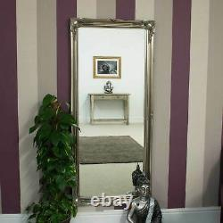 Large Champagne Silver Ornate Antique Design Mirror Full length Long 165 X 75cm