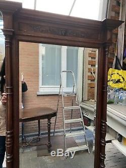 Large French Green Man Oak Mirror Full Length Almost 2 Metres Tall