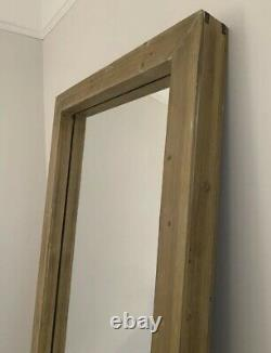 Large Full Length Chunky Wooden Mirror