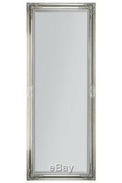 Large Full Length Classic Ornate Styled Silver Mirror 6ft X 2ft4 180cm X 70cm