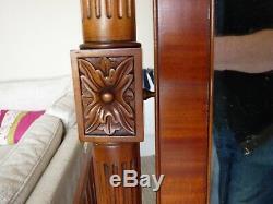 Large Full Length Freestanding Ornate Vintage Carved Solid Wood Mirror