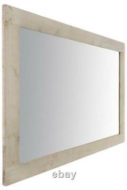 Large Full Length Leaner White Solid Wood Wall Mirror 7Ft X 5Ft 213cm X 152cm