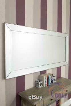 Large Full Length Modena Triple Bevel Surround Wall Mirror 5ft5 x 2ft7