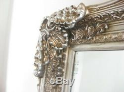 Large Full Length Ornate Framed Leaning or Wall Mounted Mirror
