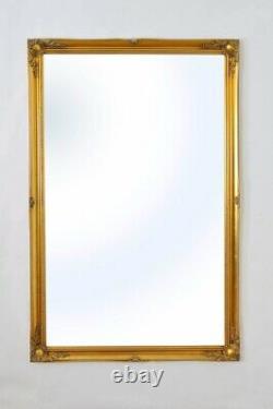 Large Gold Antique Ornate Full Length Leaner Long Wall Mirror 167cm X 106cm