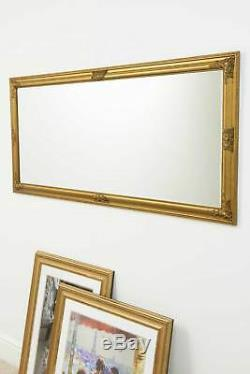 Large Gold Full Length Wall Mounted Mirror 5ft3 x 2ft5 160cm x 73cm
