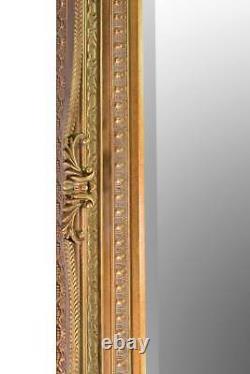 Large Lois Leaner Antique Full Length Gold Wall Mirror 6Ft X 3Ft 175cm x 89cm