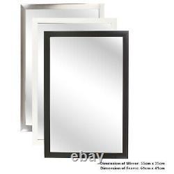 Large Long Wall Mirror Leaner Bevelled Framed Wooden Frame Full Length Bedroom