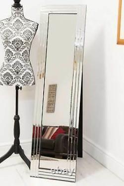 Large Modern Full length Venetian Free Standing Cheval Mirror 5FT X 1FT4