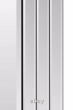 Large Silver Bevelled Full Length leaner Wall Mirror 5Ft8 X 2Ft9 174cm X 85cm