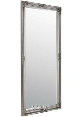 Large Silver Full Length Antique Shabby Wall Mirror 5Ft6 X 2Ft6 165cm X 76cm