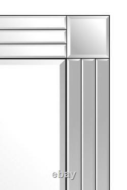 Large Silver Full Length Long Venetian Wall Mirror 5Ft9 X 2Ft9 174cm X 85cm