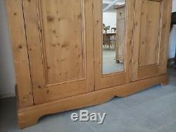 Large Solid Pine Full Hanging Length 2 Door Wardrobe FREE DELIVERY