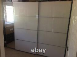 Large Triple IKEA Wardrobes With Mirror And Sliding Doors