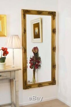 Large Wall Mirror Abbey Gold Shabby Chic Full Length 5Ft5 X 2Ft7 165cm X 78cm
