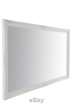 Large Wall Mirror Extra White Full Length Vintage Bevelled 5Ft6X3Ft6 164cmX102cm
